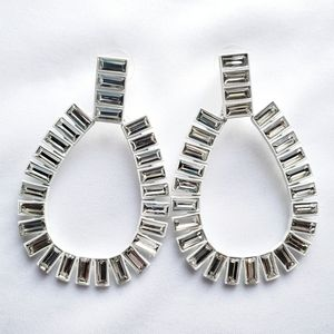 White and Crystal Earring